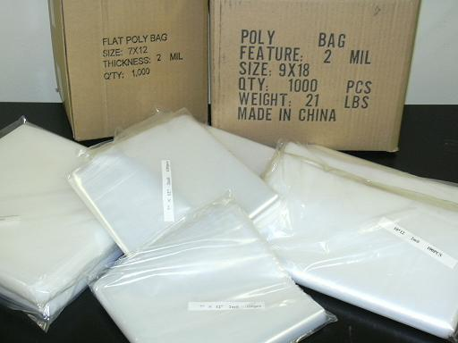 7x12 4MIL POLY BAGS CLEAR Flat Open Top Plastic Packaging Packing LDPE